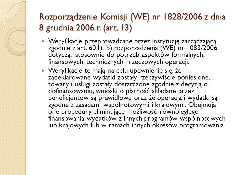 Rozporządzenie Komisji (WE) nr 1828/2006 z dnia 8 grudnia 2006 r. (art