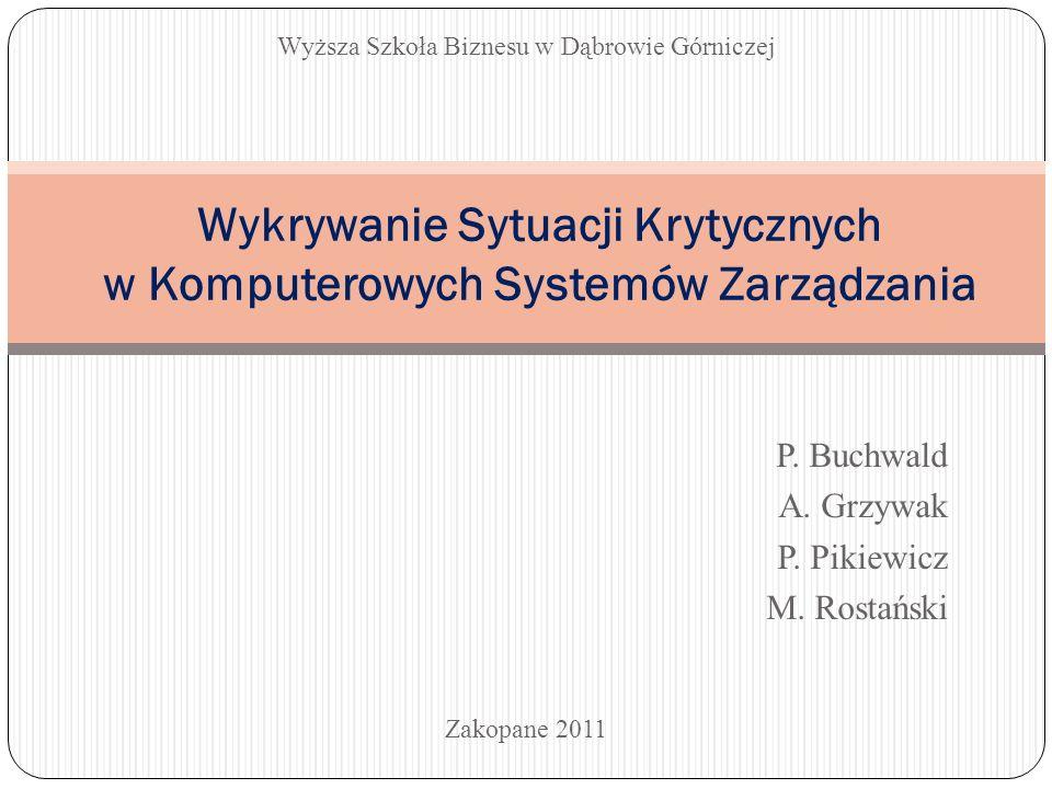 Wykrywanie Sytuacji Krytycznych w Komputerowych Systemów Zarządzania