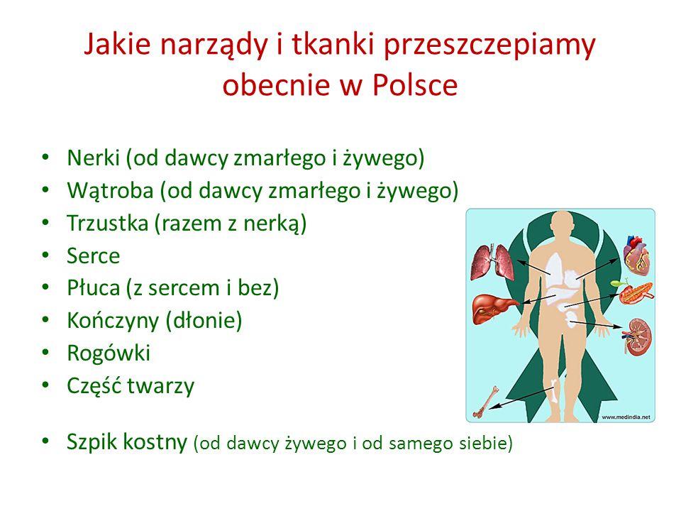 Jakie narządy i tkanki przeszczepiamy obecnie w Polsce