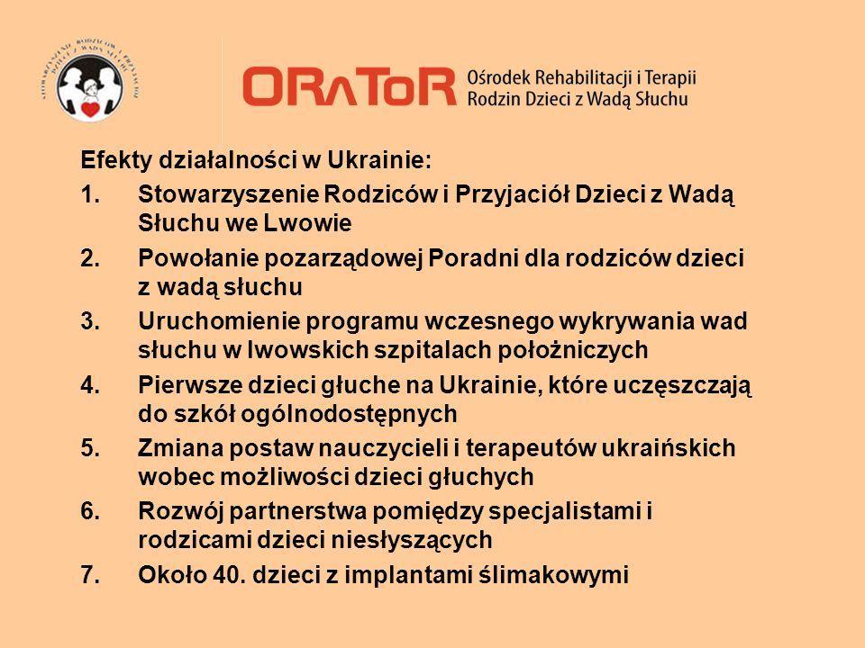 Efekty działalności w Ukrainie: