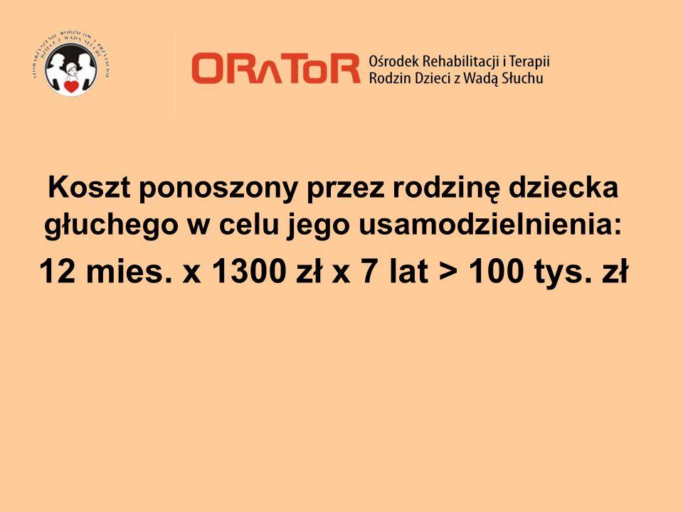 12 mies. x 1300 zł x 7 lat > 100 tys. zł