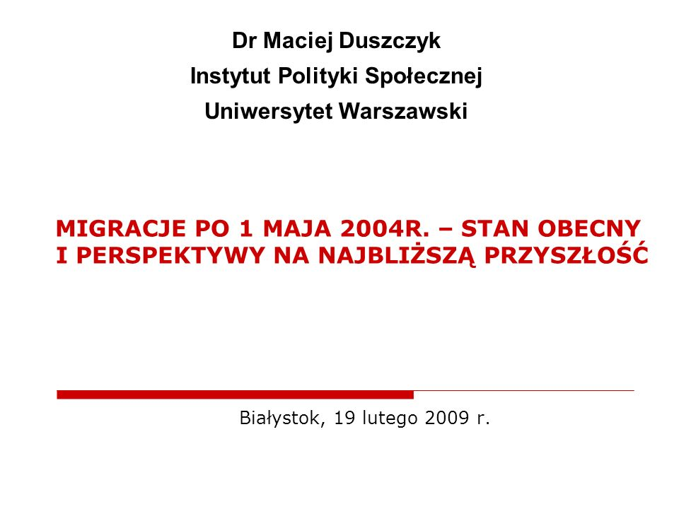 Instytut Polityki Społecznej Uniwersytet Warszawski