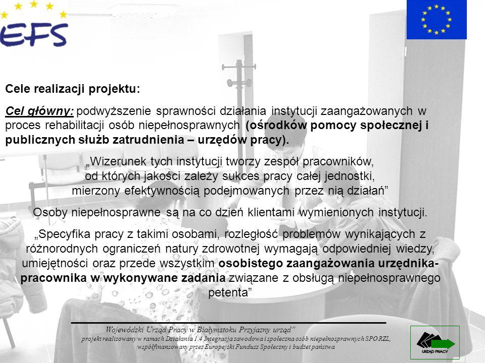 Cele realizacji projektu: