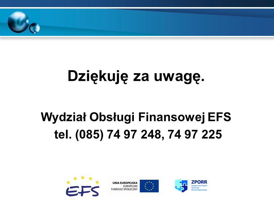 Wydział Obsługi Finansowej EFS