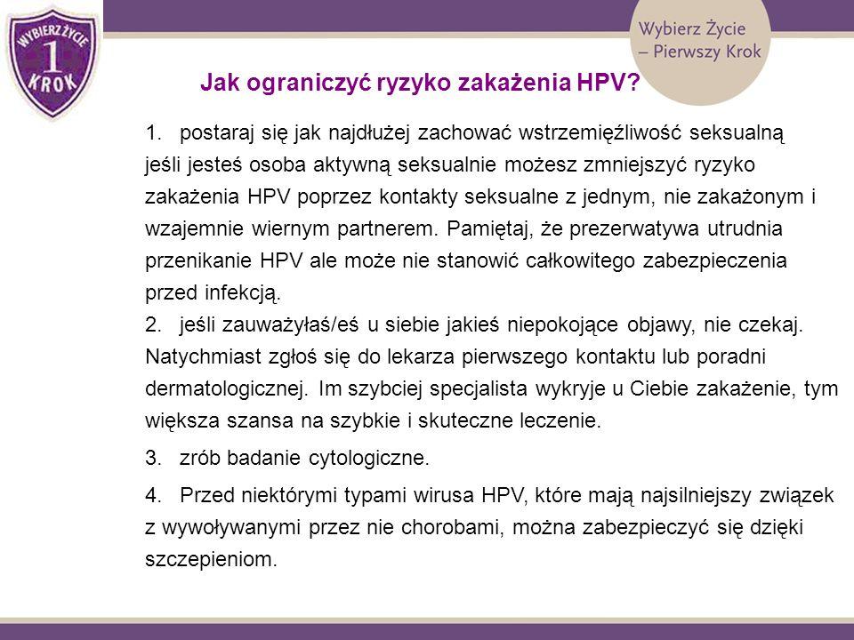 Jak ograniczyć ryzyko zakażenia HPV
