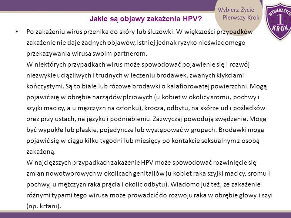 Jakie są objawy zakażenia HPV