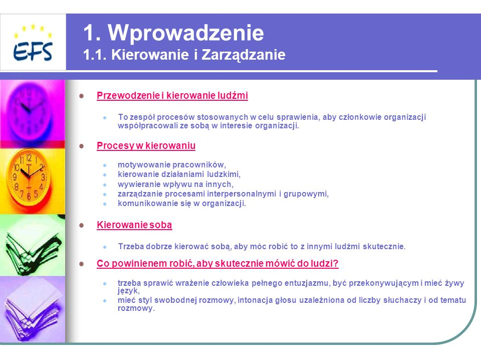 1. Wprowadzenie 1.1. Kierowanie i Zarządzanie