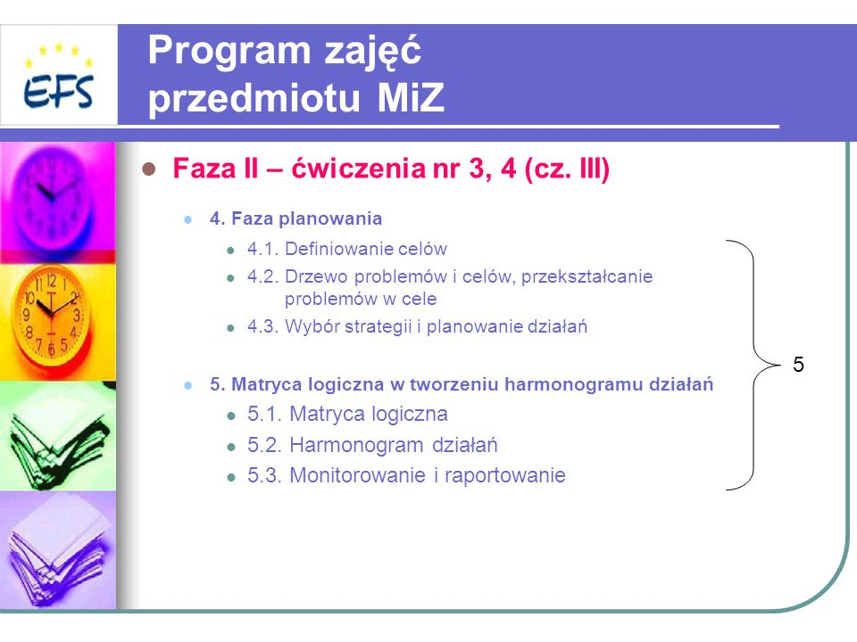 Program zajęć przedmiotu MiZ