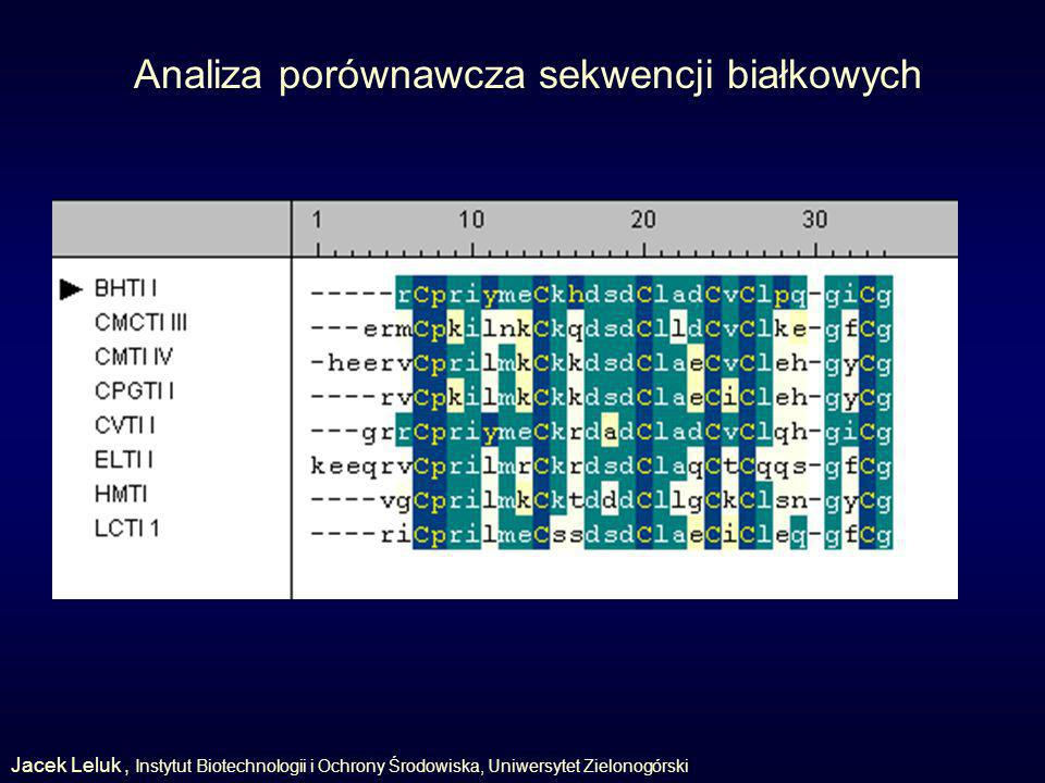 Analiza porównawcza sekwencji białkowych