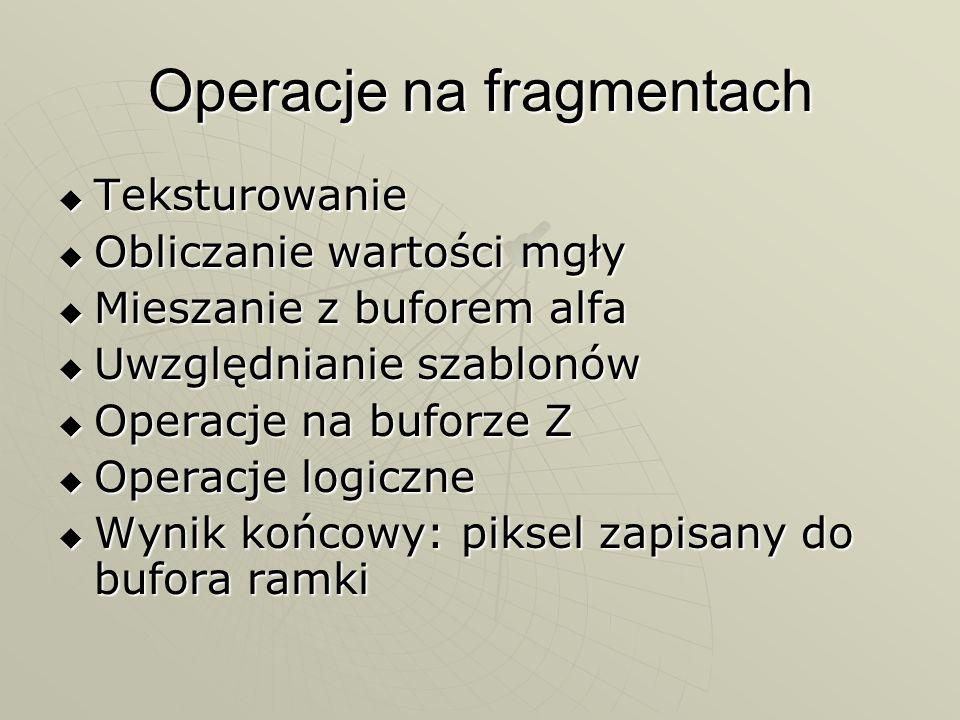 Operacje na fragmentach
