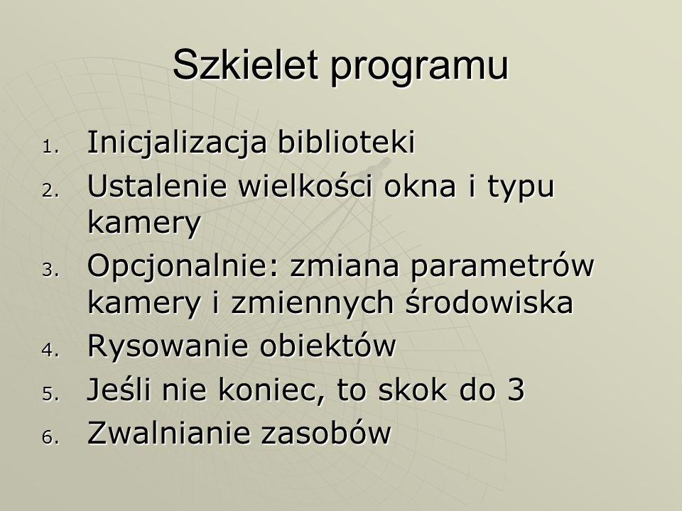 Szkielet programu Inicjalizacja biblioteki