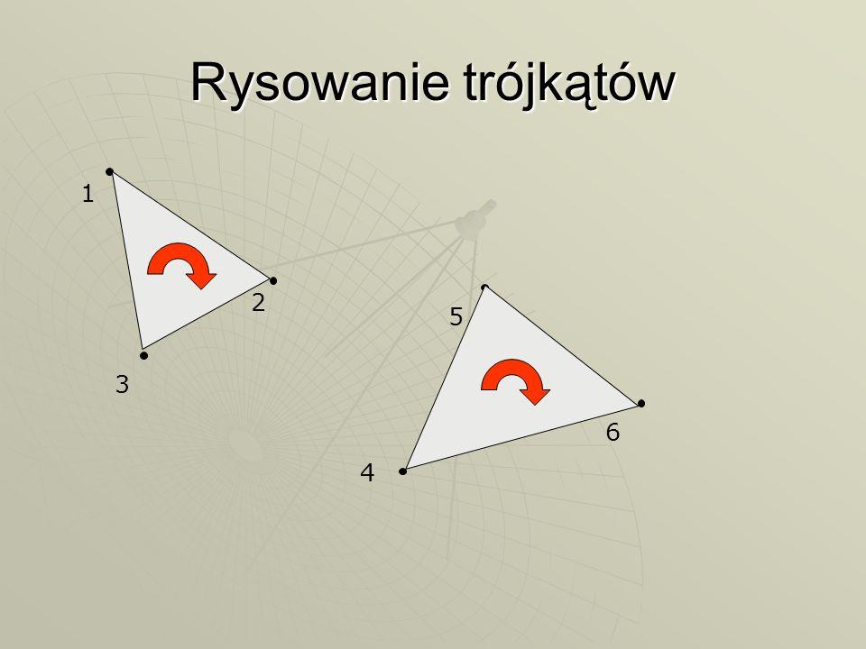 Rysowanie trójkątów 1 2 5 3 6 4
