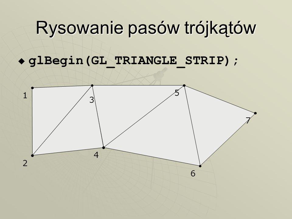 Rysowanie pasów trójkątów