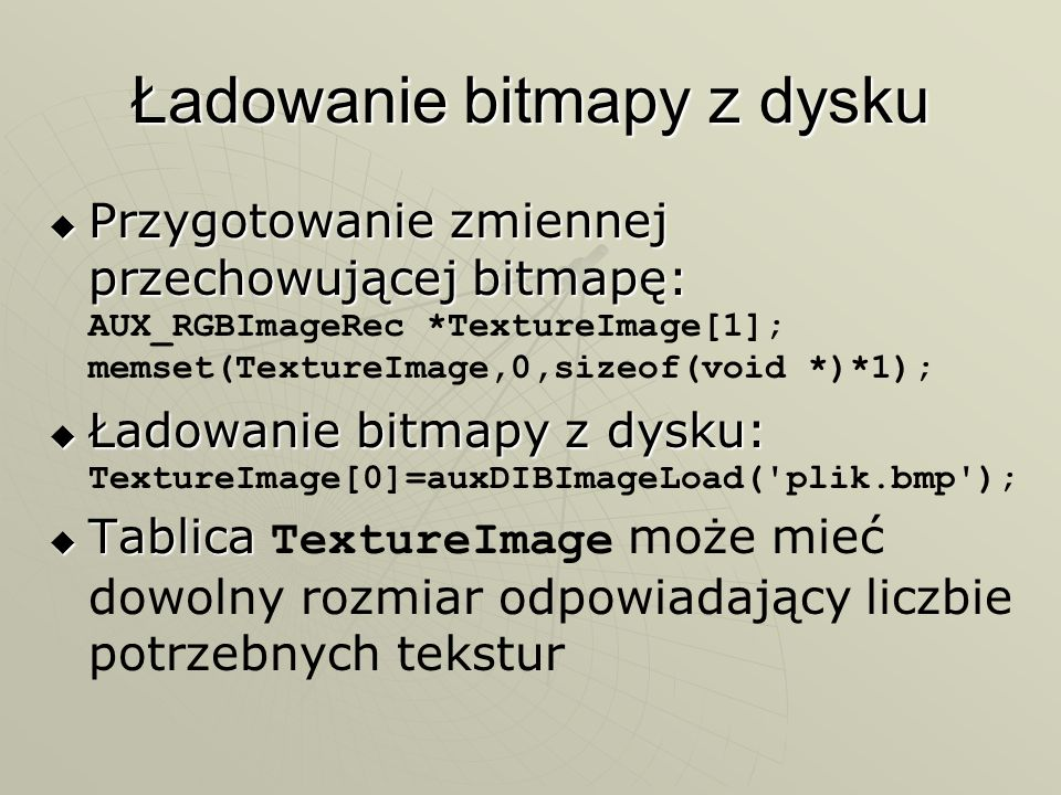 Ładowanie bitmapy z dysku