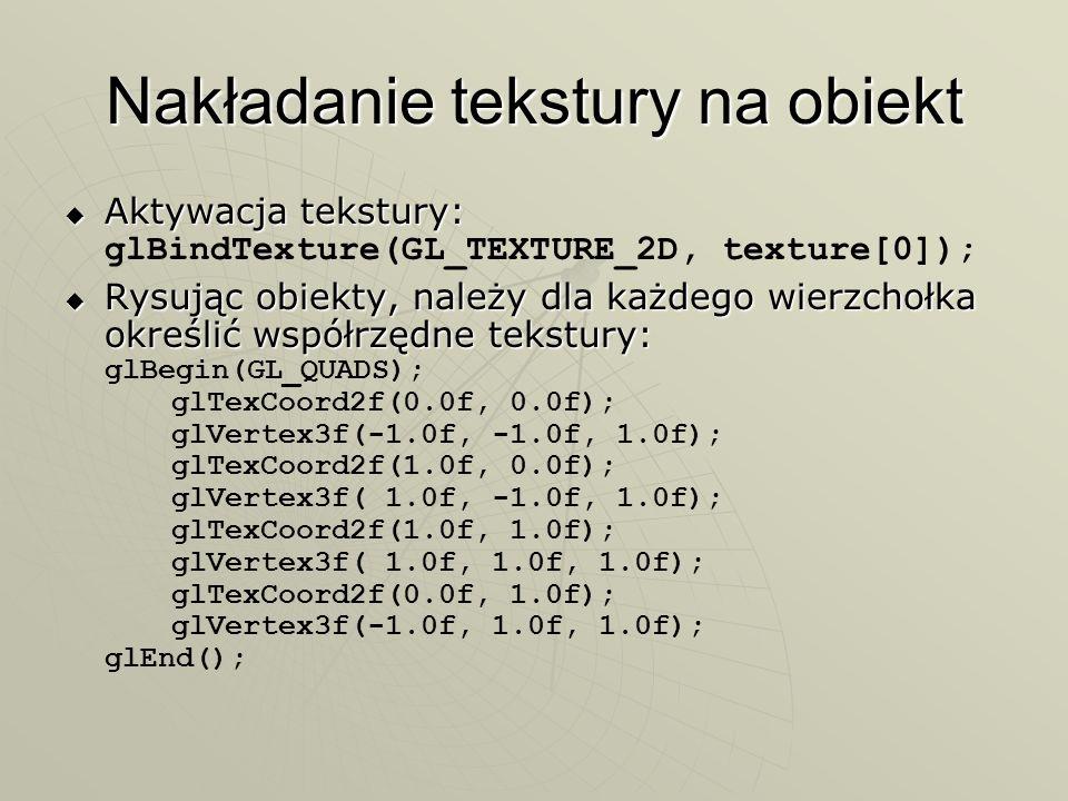 Nakładanie tekstury na obiekt