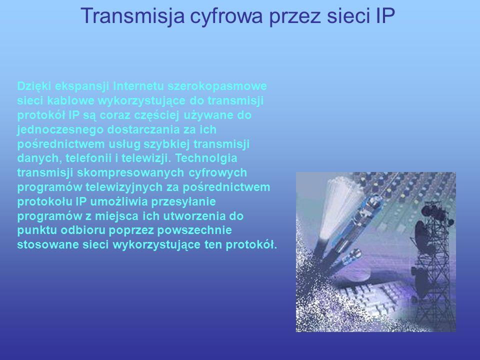Transmisja cyfrowa przez sieci IP