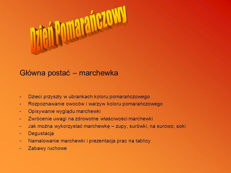 Dzień Pomarańczowy Główna postać – marchewka