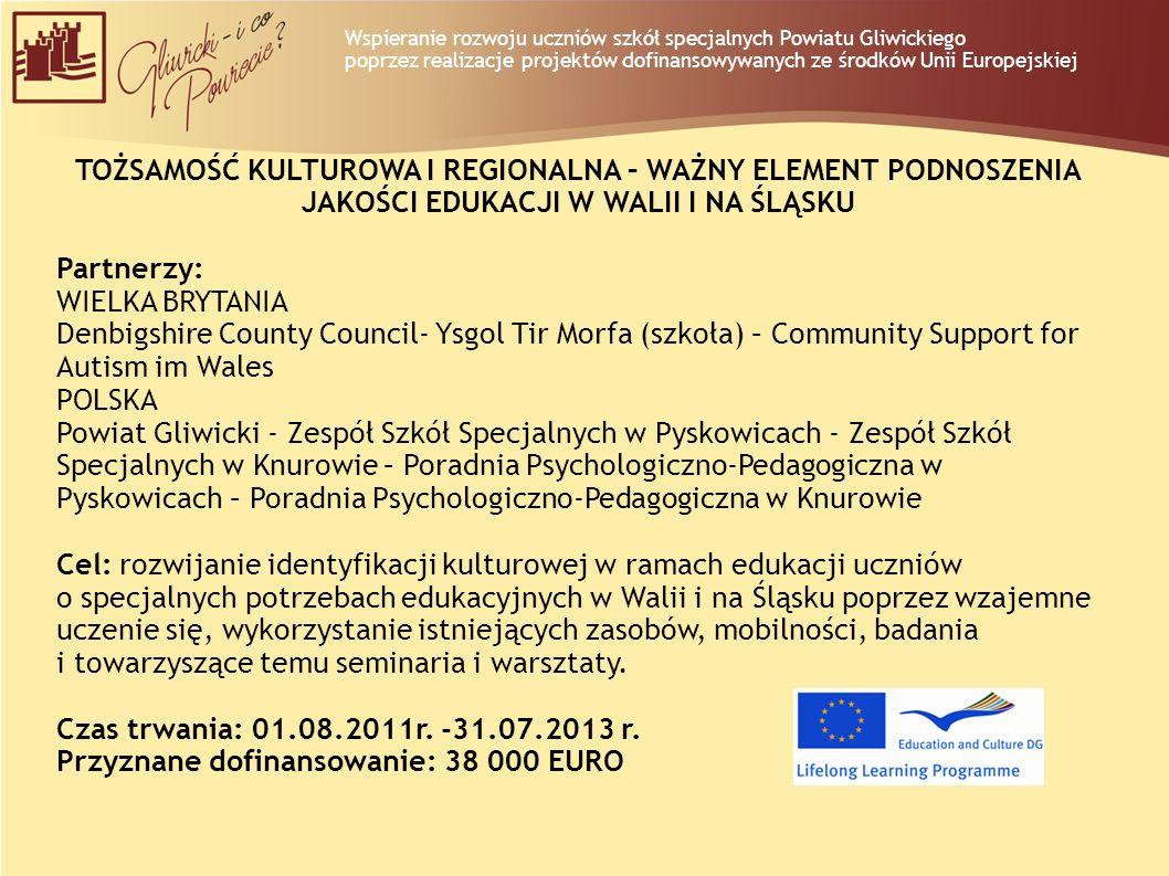 Wspieranie rozwoju uczniów szkół specjalnych Powiatu Gliwickiego