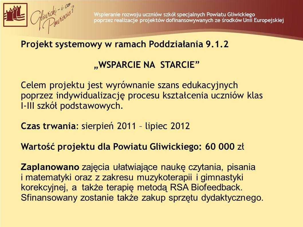 """Projekt systemowy w ramach Poddziałania 9.1.2 """"WSPARCIE NA STARCIE"""