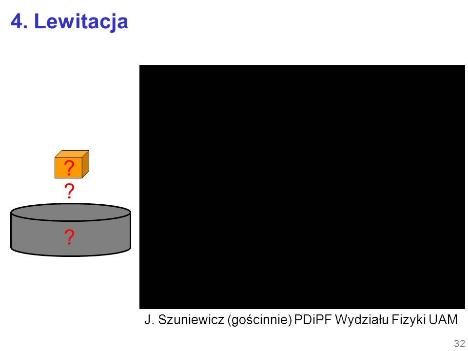 4. Lewitacja J. Szuniewicz (gościnnie) PDiPF Wydziału Fizyki UAM
