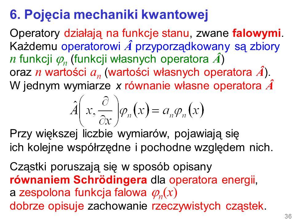 6. Pojęcia mechaniki kwantowej