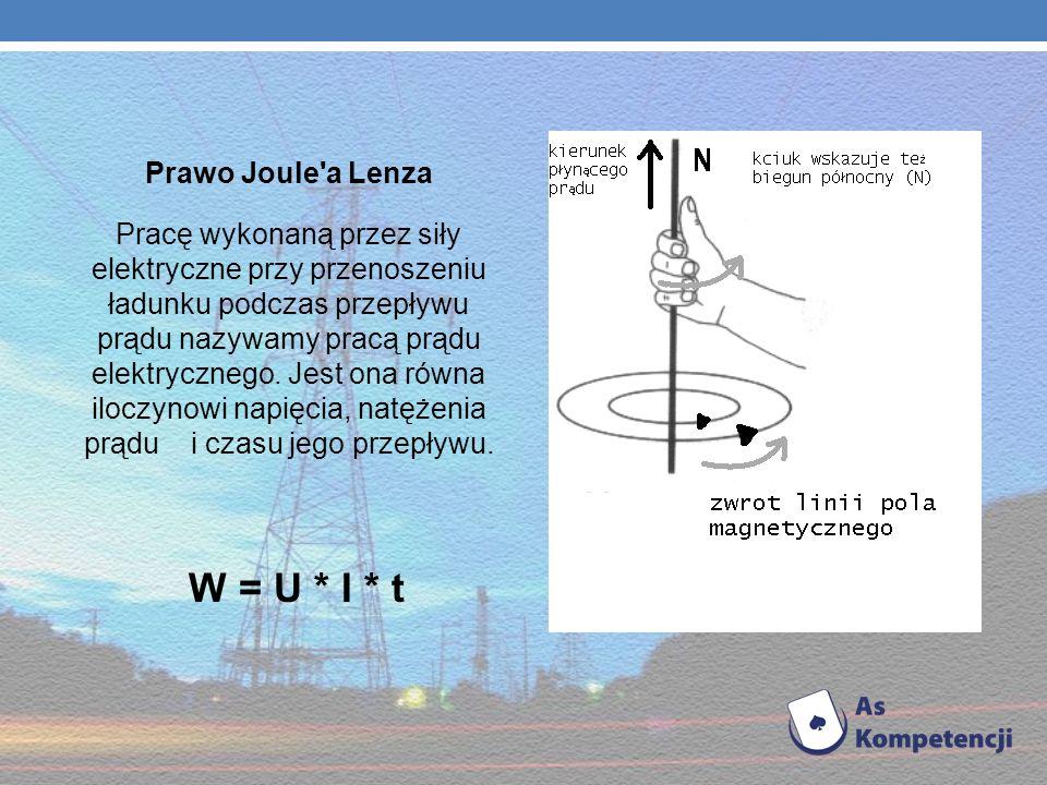 W = U * I * t Prawo Joule a Lenza