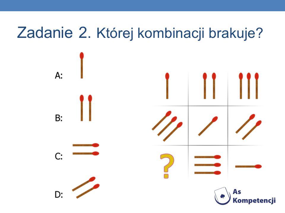 Zadanie 2. Której kombinacji brakuje