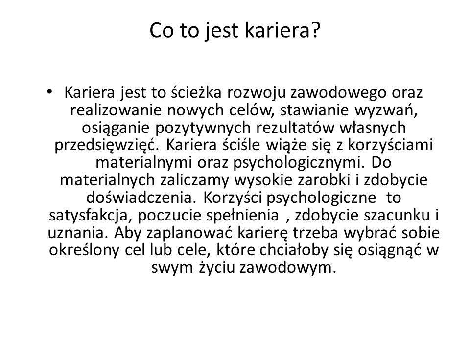 Co to jest kariera
