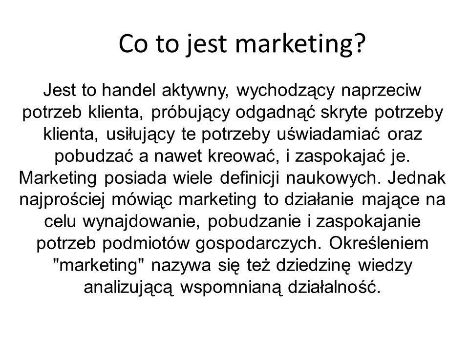 Co to jest marketing