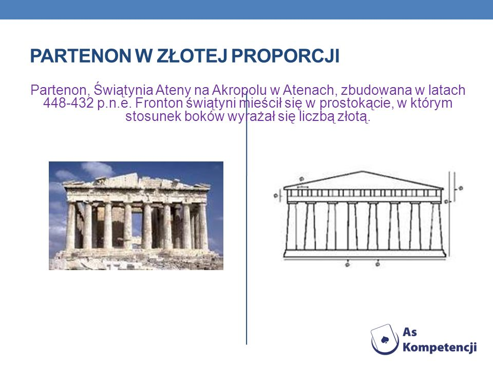 Partenon w złotej proporcji