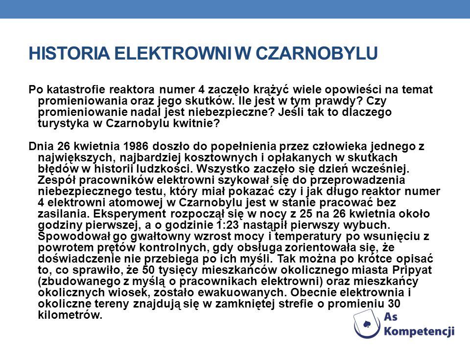 HISTORIA ELEKTROWNI W CZARNOBYLU
