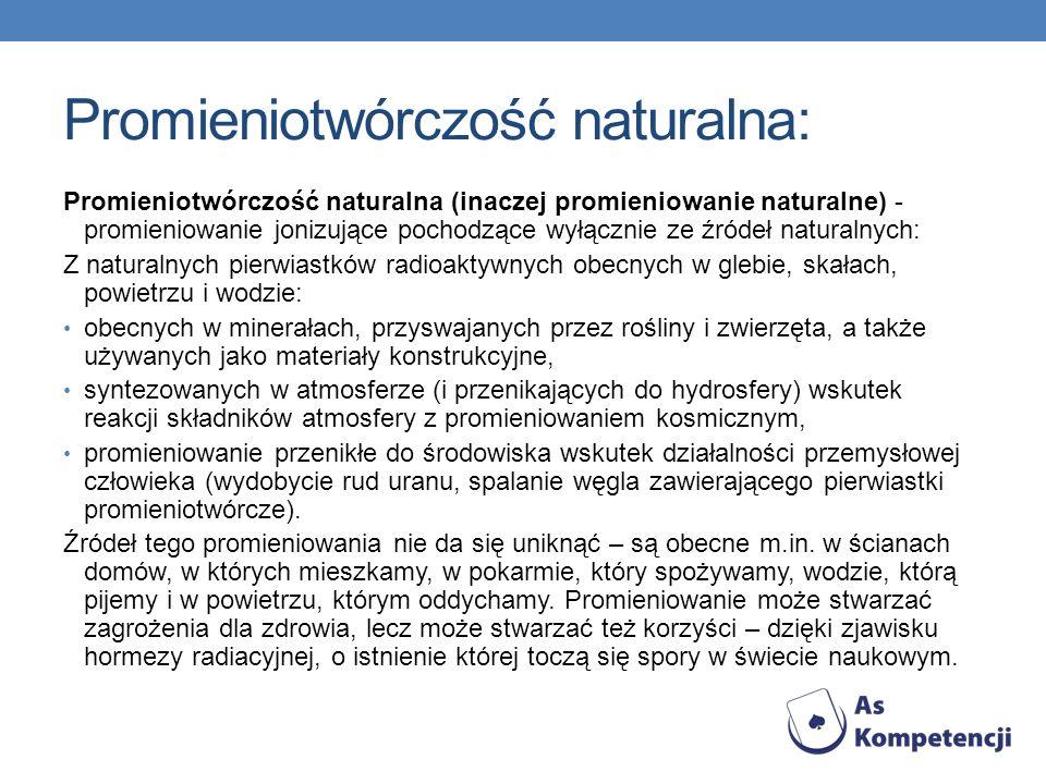 Promieniotwórczość naturalna:
