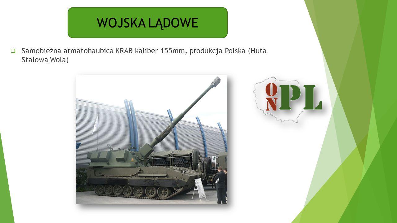 WOJSKA LĄDOWE Samobieżna armatohaubica KRAB kaliber 155mm, produkcja Polska (Huta Stalowa Wola)