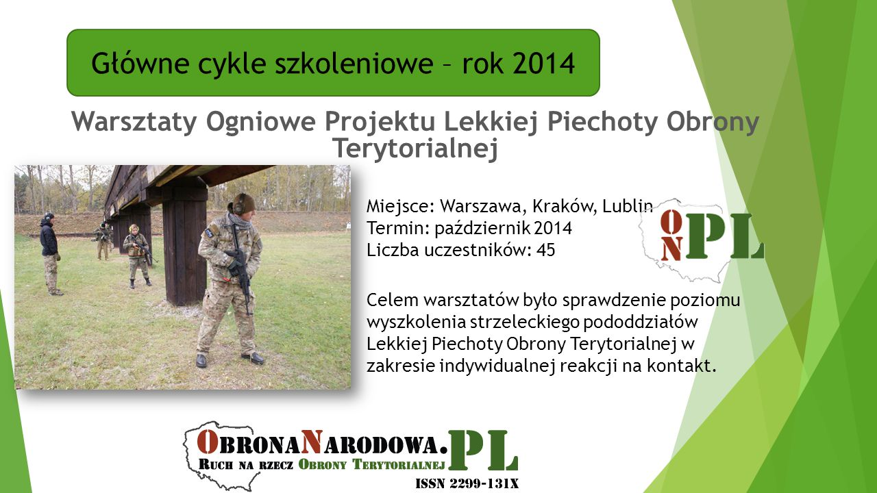 Warsztaty Ogniowe Projektu Lekkiej Piechoty Obrony Terytorialnej