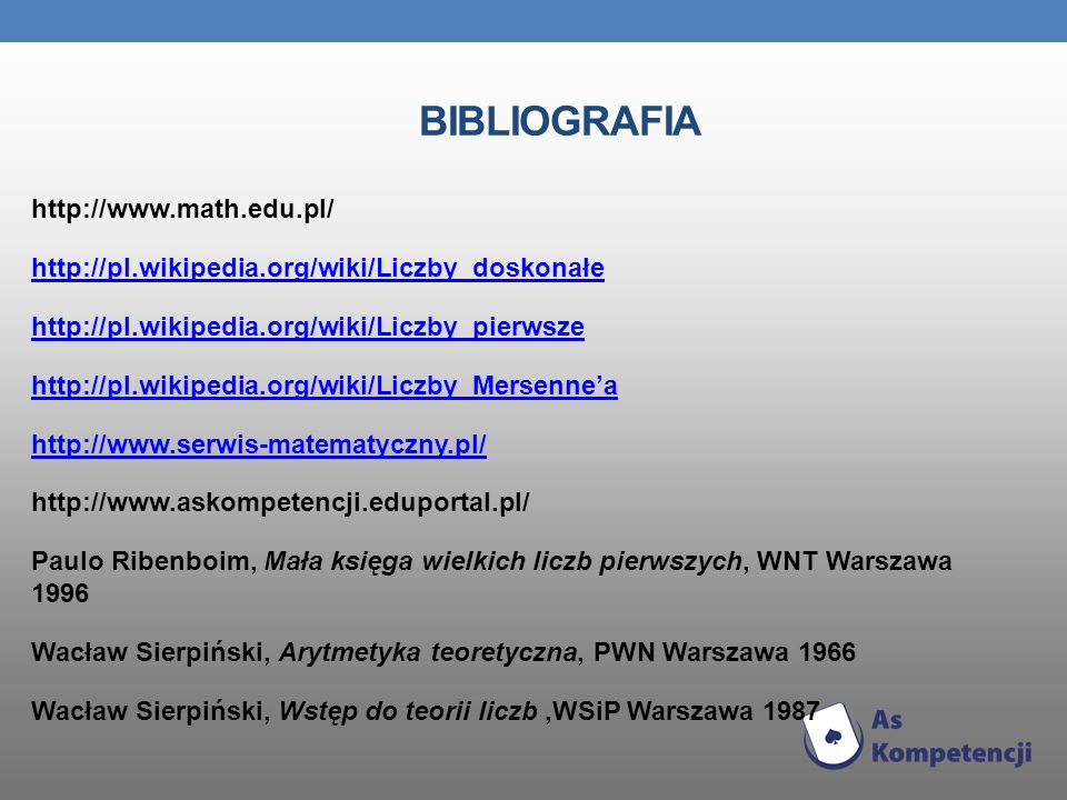 BIBLIOGRAFIA http://www.math.edu.pl/