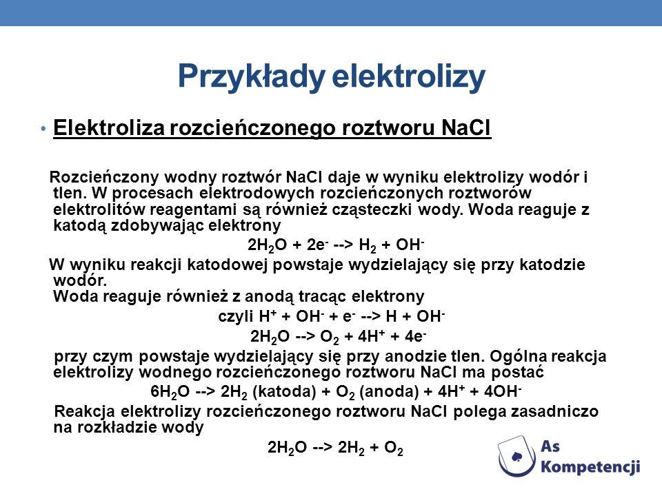 Przykłady elektrolizy