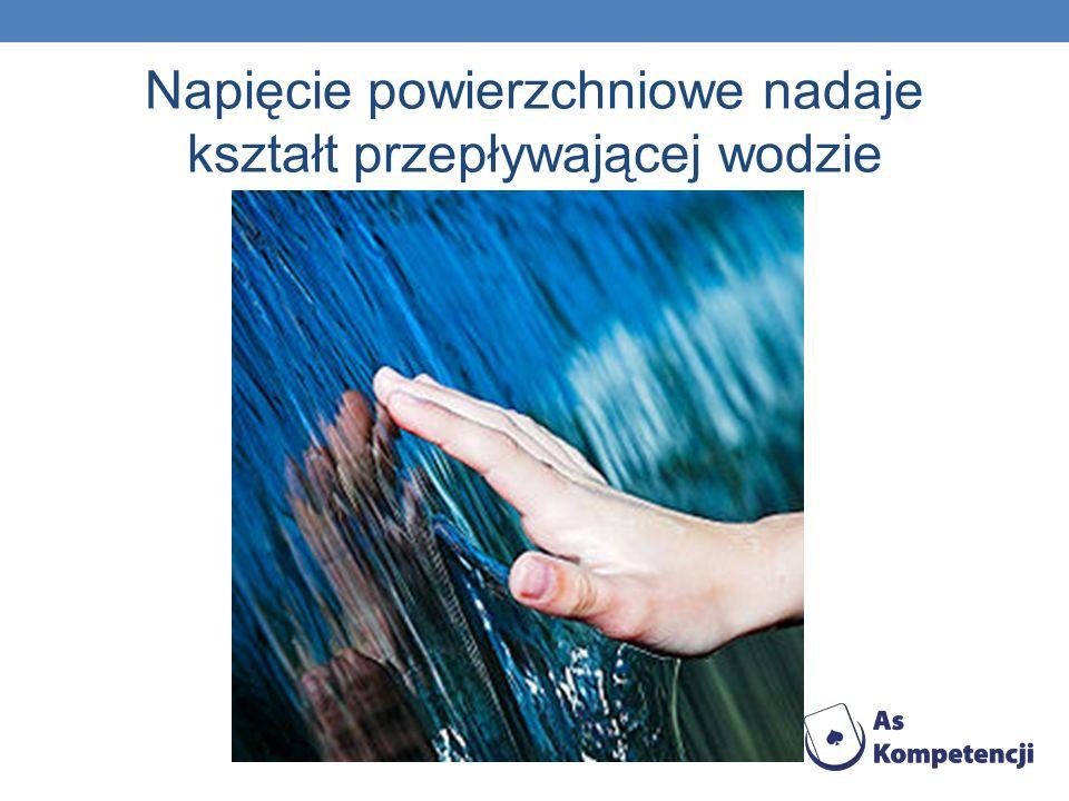 Napięcie powierzchniowe nadaje kształt przepływającej wodzie