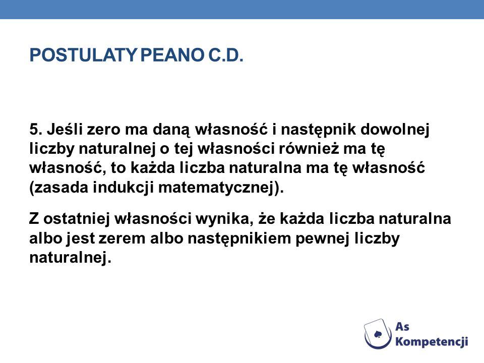 Postulaty peano c.d.
