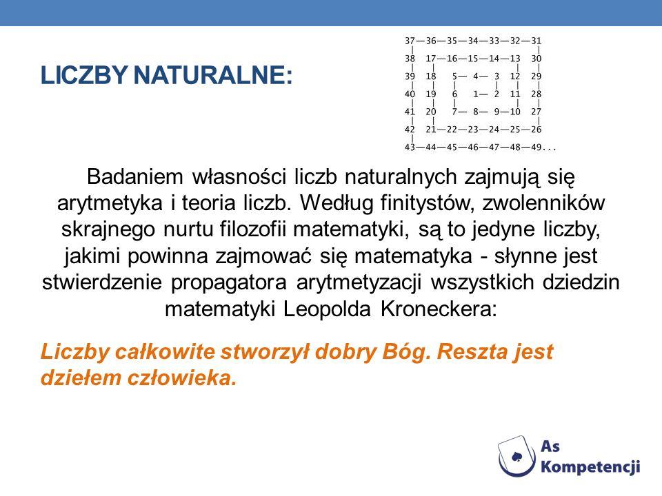 Liczby naturalne: