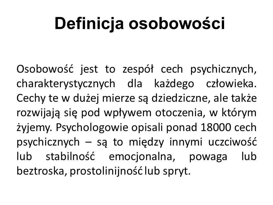 Definicja osobowości