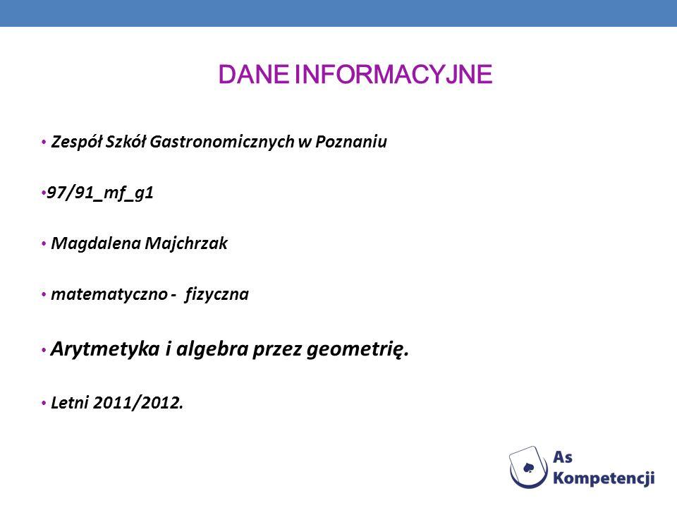 Dane INFORMACYJNE Zespół Szkół Gastronomicznych w Poznaniu 97/91_mf_g1