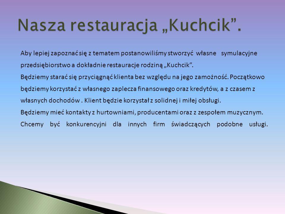 """Nasza restauracja """"Kuchcik ."""