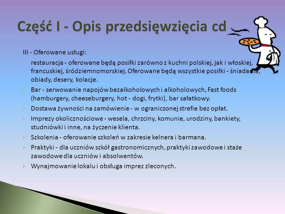 Część I - Opis przedsięwzięcia cd