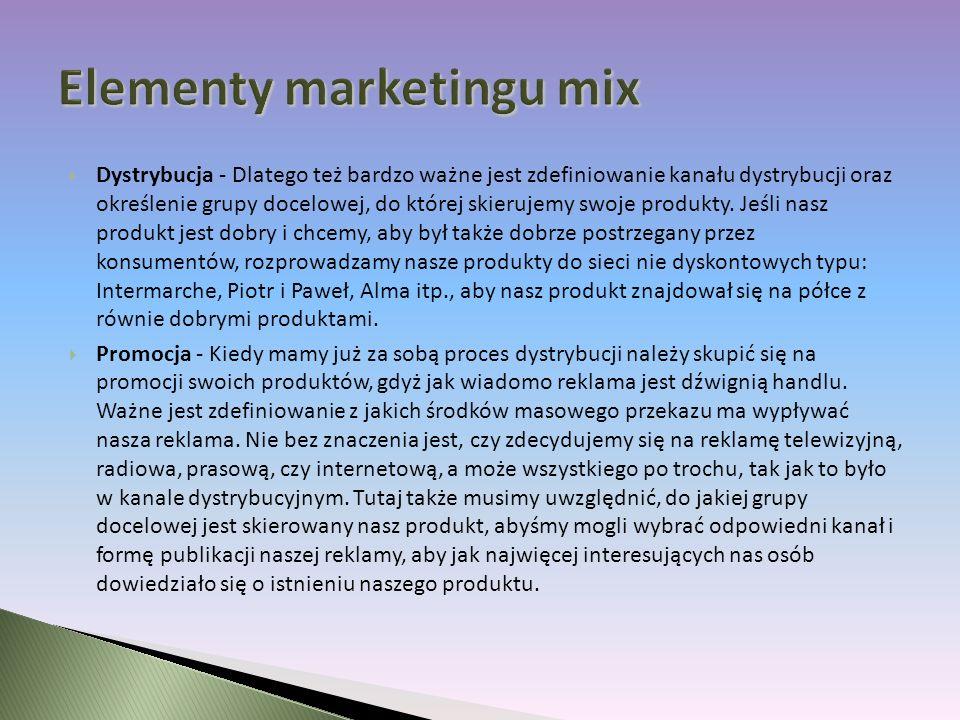 Elementy marketingu mix