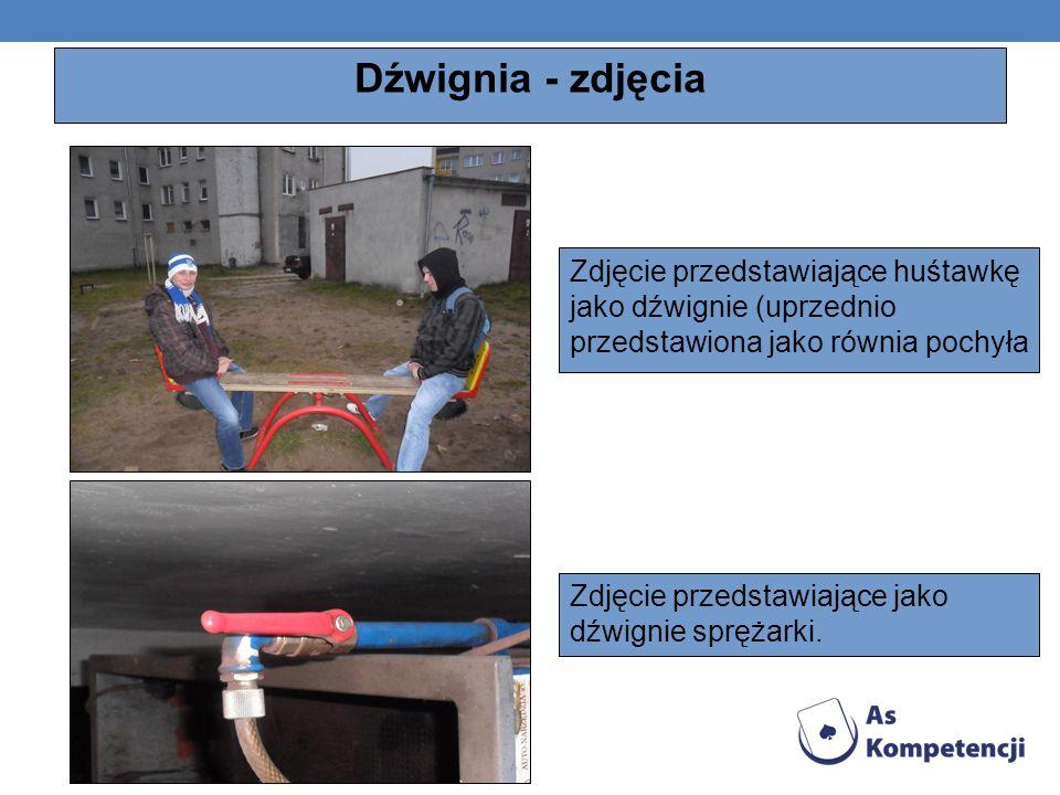 Dźwignia - zdjęciaZdjęcie przedstawiające huśtawkę jako dźwignie (uprzednio przedstawiona jako równia pochyła.