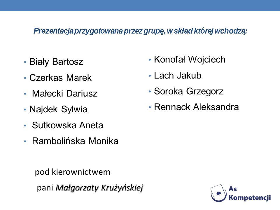 Prezentacja przygotowana przez grupę, w skład której wchodzą: