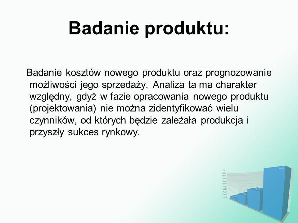 Badanie produktu: