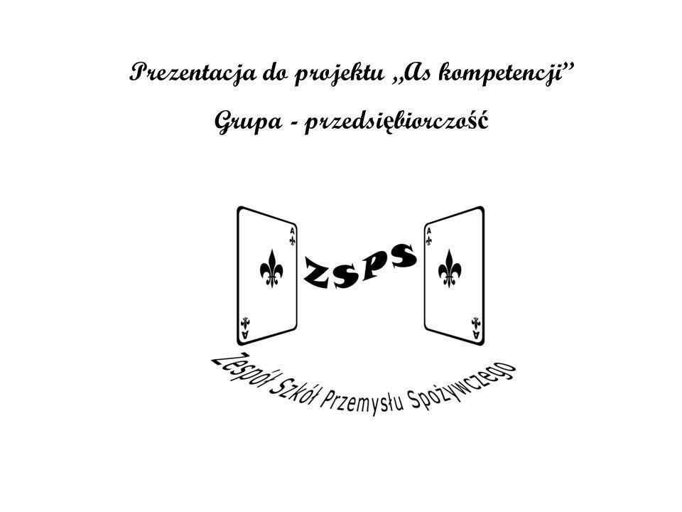"""Prezentacja do projektu """"As kompetencji Grupa - przedsiębiorczość"""