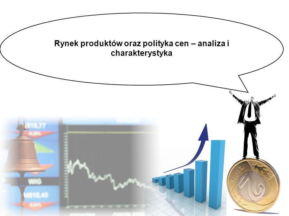 Rynek produktów oraz polityka cen – analiza i charakterystyka