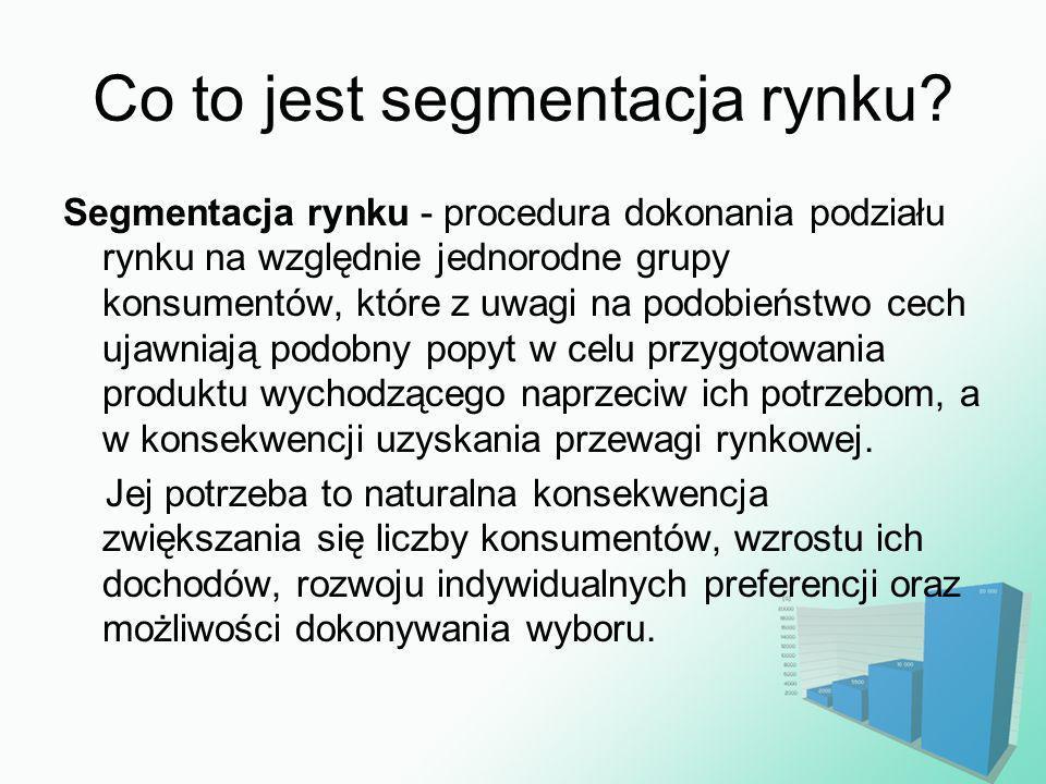 Co to jest segmentacja rynku